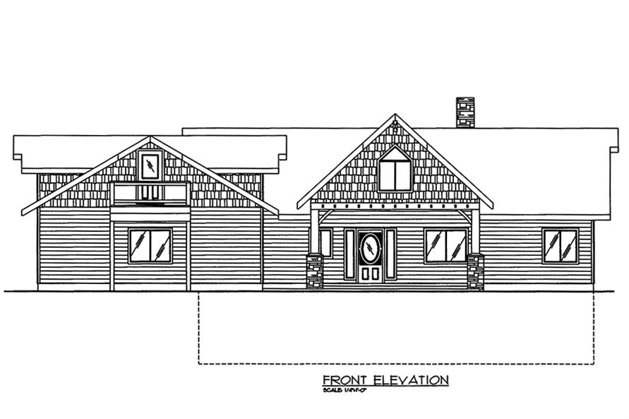 Home Plan Front Elevation of this 2-Bedroom,3685 Sq Ft Plan -132-1570