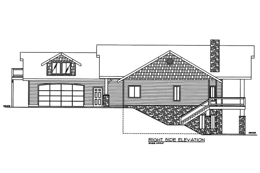 Home Plan Right Elevation of this 2-Bedroom,3685 Sq Ft Plan -132-1570