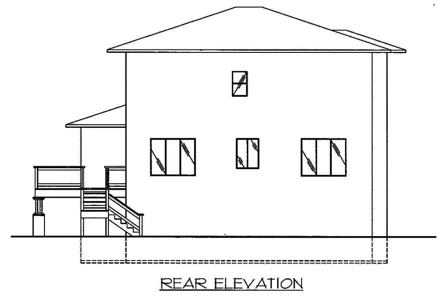 Home Plan Rear Elevation of this 3-Bedroom,2697 Sq Ft Plan -132-1571