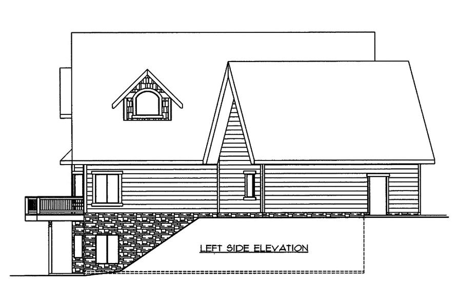 Home Plan Left Elevation of this 4-Bedroom,5142 Sq Ft Plan -132-1572