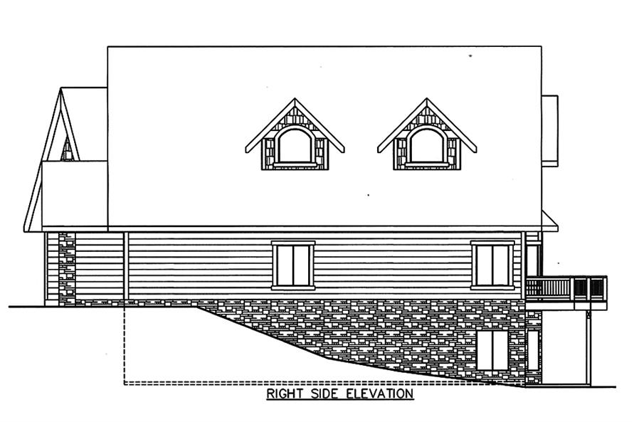 Home Plan Right Elevation of this 4-Bedroom,5142 Sq Ft Plan -132-1572