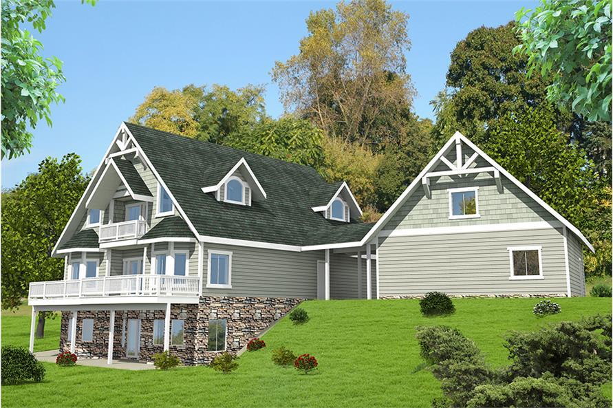 4-Bedroom, 5142 Sq Ft Craftsman House Plan - 132-1572 - Front Exterior