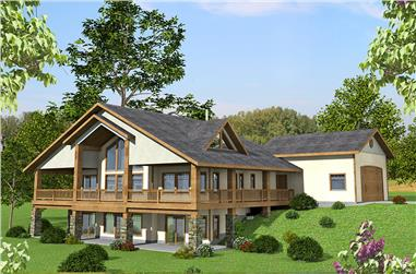 3-Bedroom, 3304 Sq Ft Craftsman House Plan - 132-1574 - Front Exterior