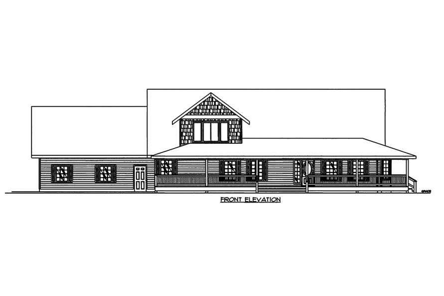 Home Plan Front Elevation of this 3-Bedroom,3471 Sq Ft Plan -132-1575