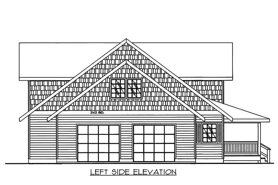 Home Plan Left Elevation of this 3-Bedroom,3471 Sq Ft Plan -132-1575