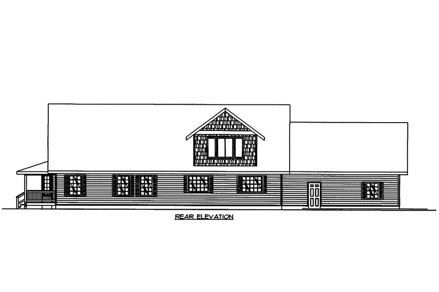 Home Plan Rear Elevation of this 3-Bedroom,3471 Sq Ft Plan -132-1575