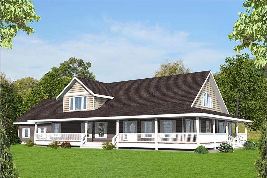 3-Bedroom, 3471 Sq Ft Craftsman House Plan - 132-1575 - Front Exterior