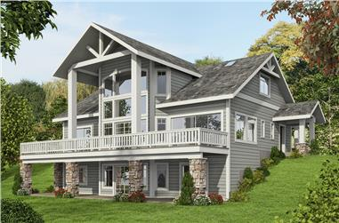 3-Bedroom, 3695 Sq Ft Craftsman Home Plan - 132-1576 - Main Exterior