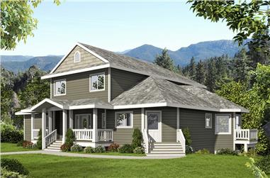 5-Bedroom, 4684 Sq Ft Craftsman Home Plan - 132-1578 - Main Exterior