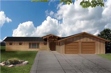 4-Bedroom, 4259 Sq Ft Modern House Plan - 132-1582 - Front Exterior