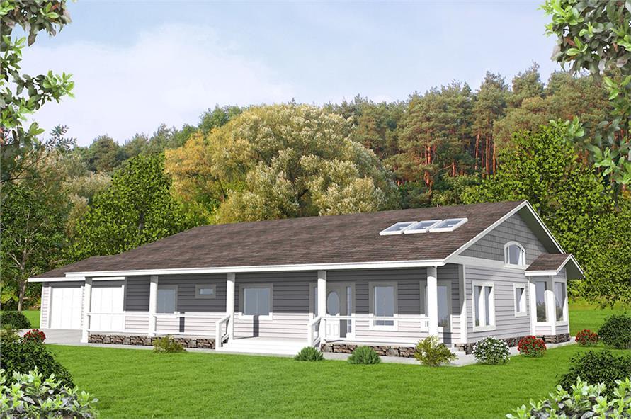 3-Bedroom, 2076 Sq Ft Ranch Home Plan - 132-1584 - Main Exterior
