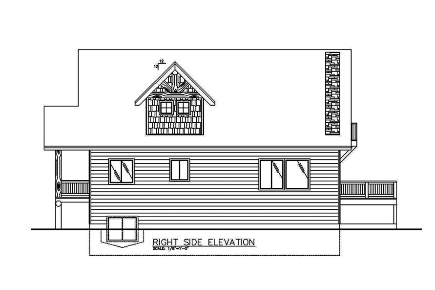 Home Plan Right Elevation of this 2-Bedroom,2466 Sq Ft Plan -132-1585