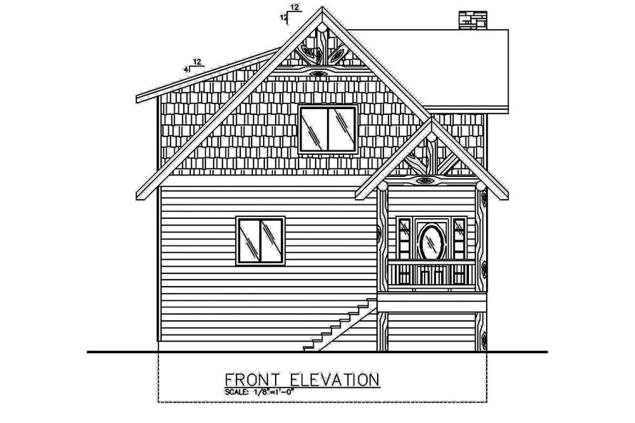 Home Plan Front Elevation of this 2-Bedroom,2466 Sq Ft Plan -132-1585