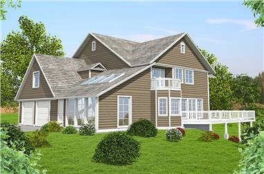 3-Bedroom, 3928 Sq Ft Southern Home Plan - 132-1593 - Main Exterior