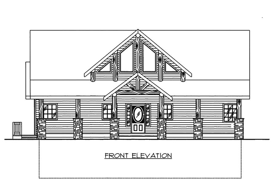 Home Plan Front Elevation of this 3-Bedroom,2281 Sq Ft Plan -132-1594