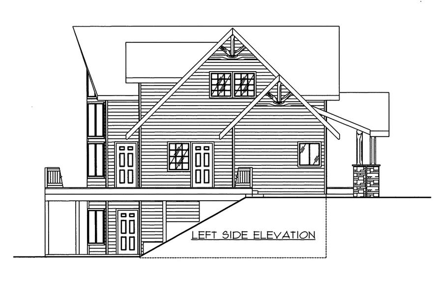 Home Plan Left Elevation of this 3-Bedroom,2281 Sq Ft Plan -132-1594