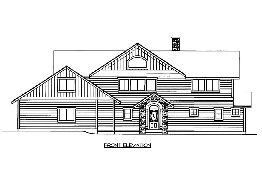 Home Plan Front Elevation of this 3-Bedroom,3522 Sq Ft Plan -132-1595