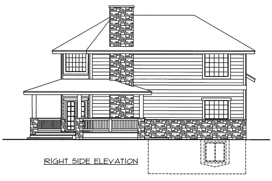 Home Plan Right Elevation of this 2-Bedroom,1968 Sq Ft Plan -132-1596