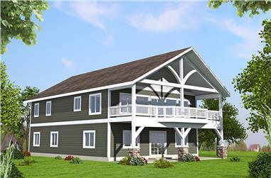 2-Bedroom, 2586 Sq Ft Craftsman House Plan - 132-1599 - Front Exterior