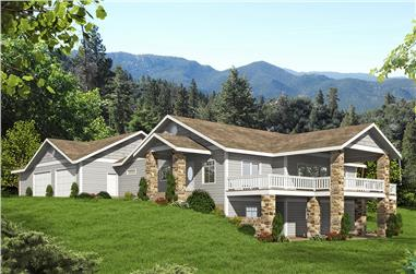 3-Bedroom, 4200 Sq Ft Craftsman House Plan - 132-1601 - Front Exterior