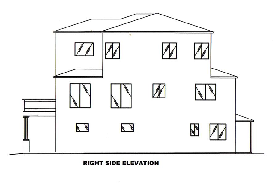 Home Plan Right Elevation of this 2-Bedroom,2231 Sq Ft Plan -132-1602