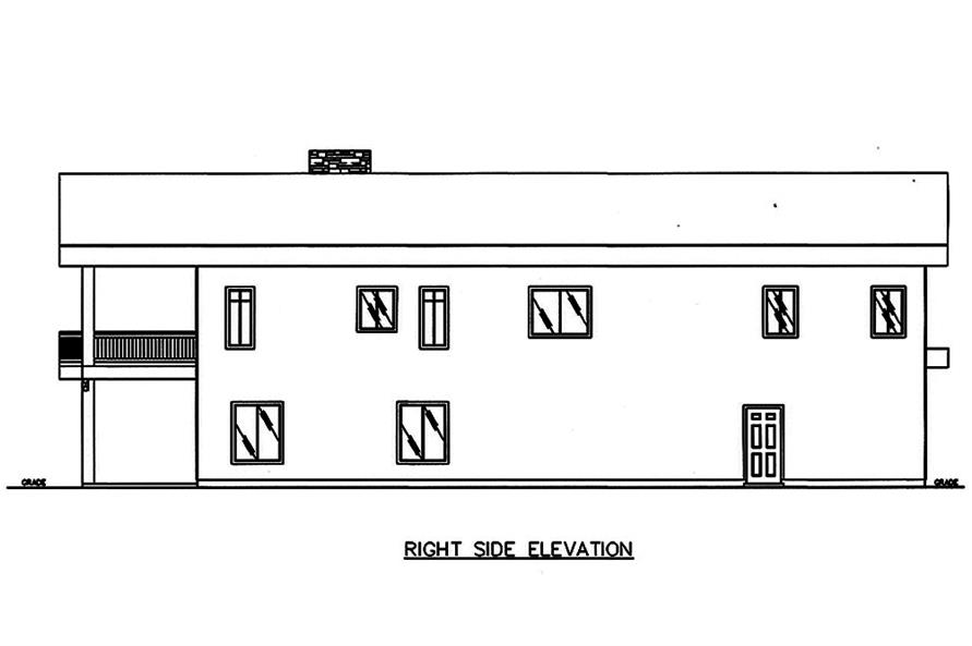 Home Plan Right Elevation of this 2-Bedroom,3396 Sq Ft Plan -132-1603