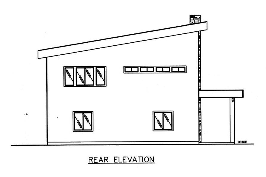 Home Plan Rear Elevation of this 2-Bedroom,3396 Sq Ft Plan -132-1603