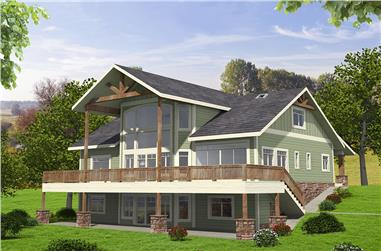 5-Bedroom, 4603 Sq Ft Southern Home Plan - 132-1604 - Main Exterior