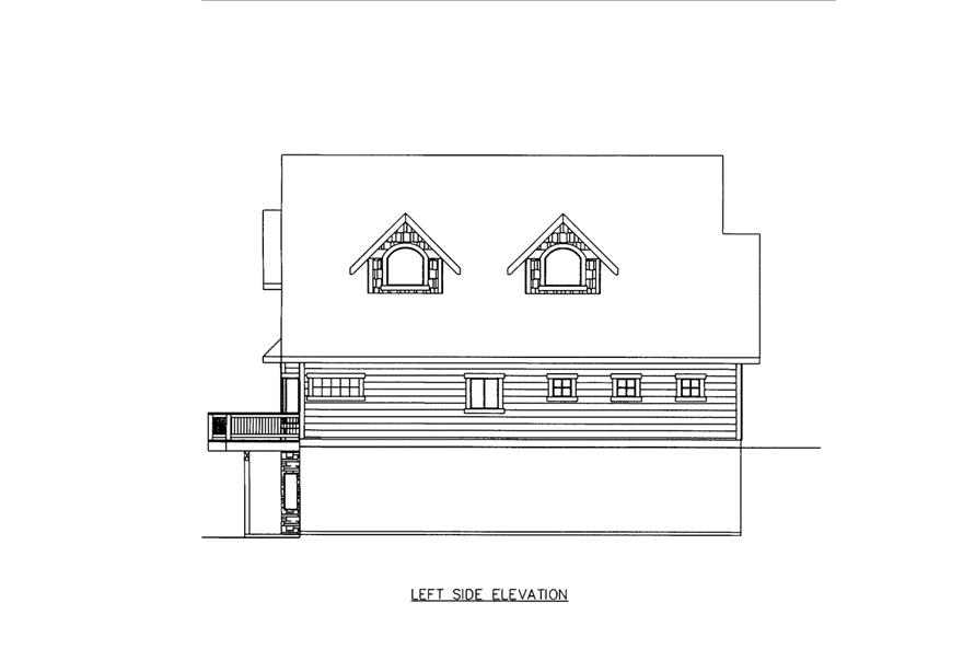 Home Plan Left Elevation of this 3-Bedroom,3618 Sq Ft Plan -132-1605