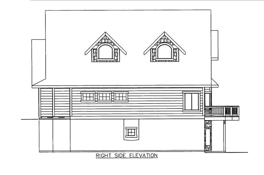 Home Plan Right Elevation of this 3-Bedroom,3618 Sq Ft Plan -132-1605