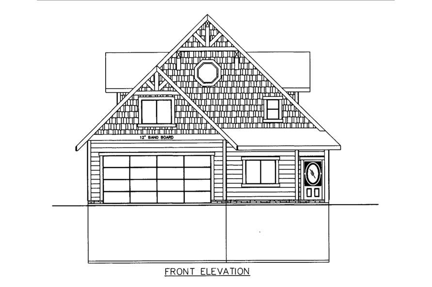 Home Plan Front Elevation of this 3-Bedroom,3618 Sq Ft Plan -132-1605