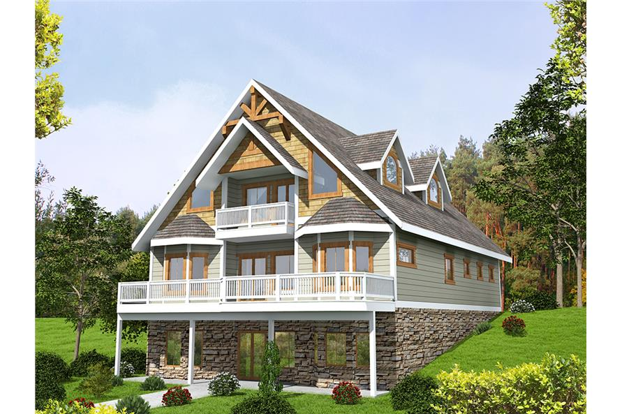 3-Bedroom, 3618 Sq Ft Southern Home Plan - 132-1605 - Main Exterior
