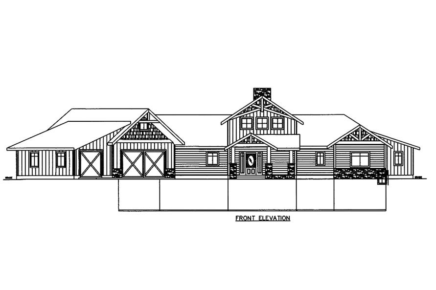 Home Plan Front Elevation of this 3-Bedroom,4139 Sq Ft Plan -132-1606