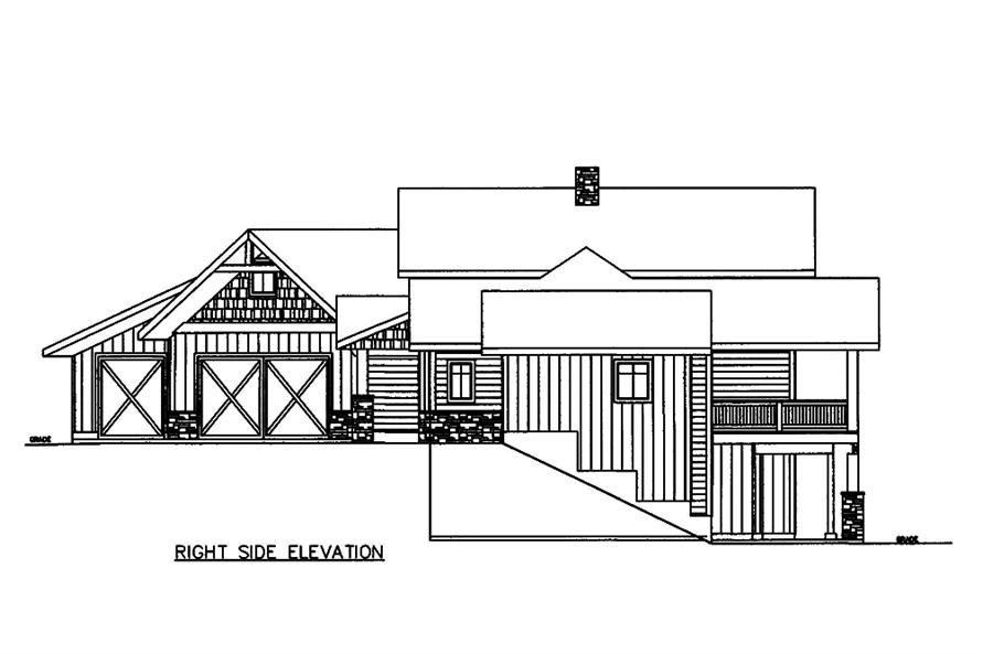 Home Plan Right Elevation of this 3-Bedroom,4139 Sq Ft Plan -132-1606