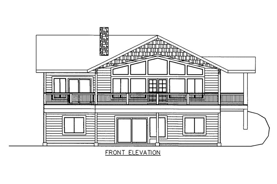 Home Plan Front Elevation of this 3-Bedroom,2880 Sq Ft Plan -132-1609