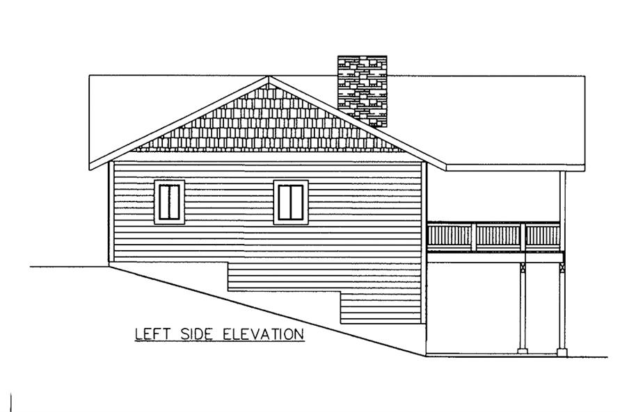 Home Plan Left Elevation of this 3-Bedroom,2880 Sq Ft Plan -132-1609