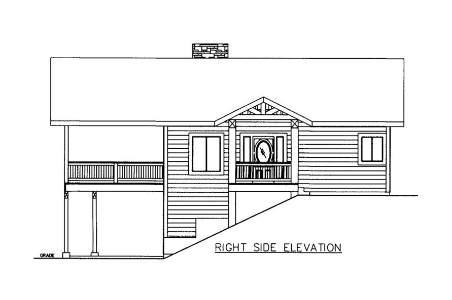 Home Plan Right Elevation of this 3-Bedroom,2880 Sq Ft Plan -132-1609