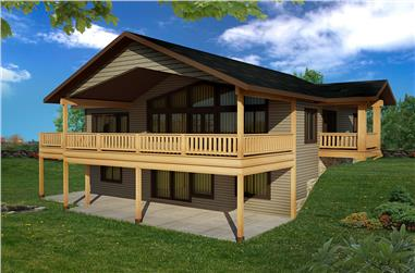 3-Bedroom, 2880 Sq Ft Cottage House Plan - 132-1609 - Front Exterior