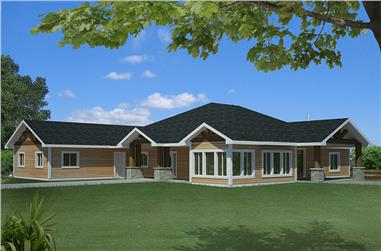 3-Bedroom, 2649 Sq Ft Craftsman House Plan - 132-1610 - Front Exterior