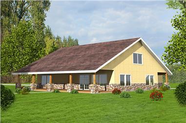 2-Bedroom, 2616 Sq Ft Southwest Home Plan - 132-1611 - Main Exterior