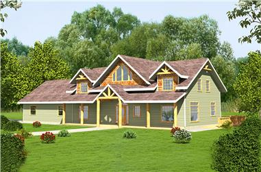 4-Bedroom, 2979 Sq Ft Craftsman Home Plan - 132-1612 - Main Exterior
