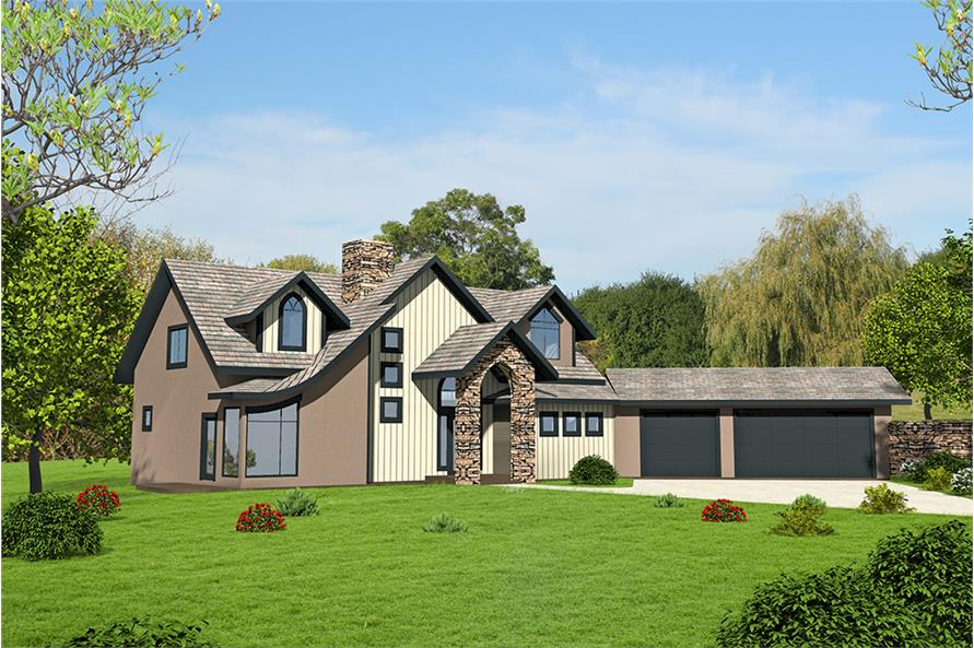 Home Plan Rendering of this 4-Bedroom,3695 Sq Ft Plan -3695