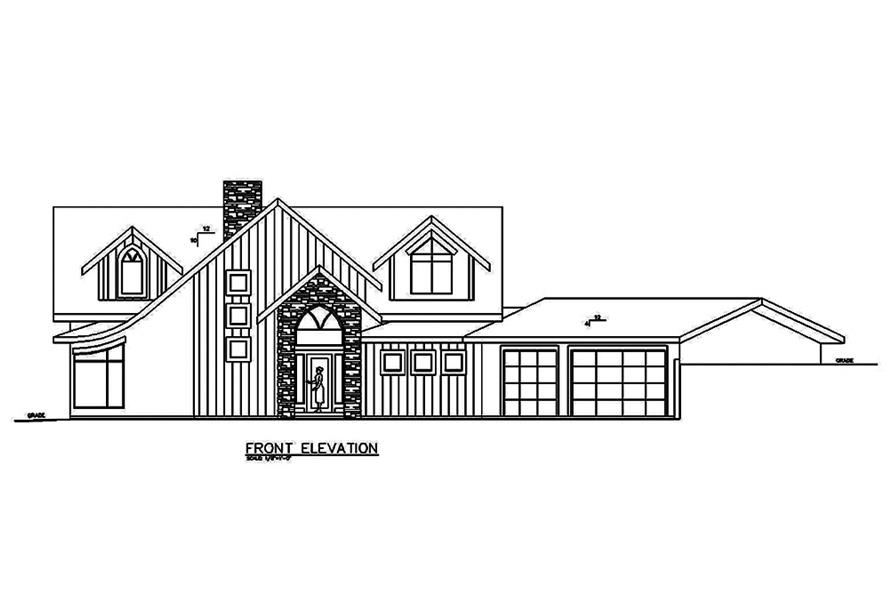 Home Plan Front Elevation of this 4-Bedroom,3695 Sq Ft Plan -132-1614