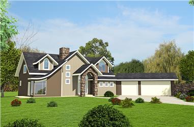 4-Bedroom, 3695 Sq Ft Modern Home Plan - 132-1614 - Main Exterior