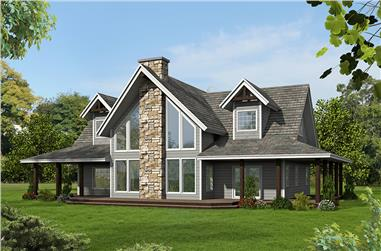 3-Bedroom, 2625 Sq Ft Southern House Plan - 132-1615 - Front Exterior
