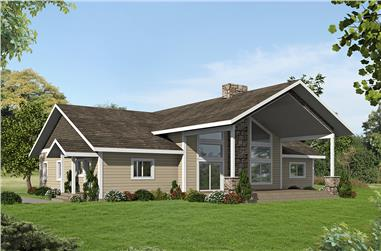 3-Bedroom, 2324 Sq Ft Country House Plan - 132-1616 - Front Exterior