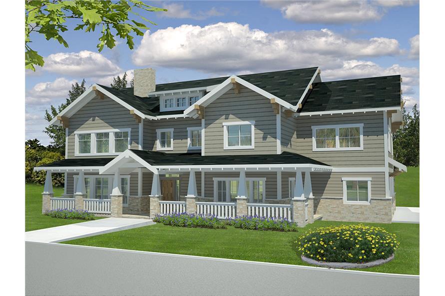 Home Plan Rendering of this 6-Bedroom,5828 Sq Ft Plan -5828