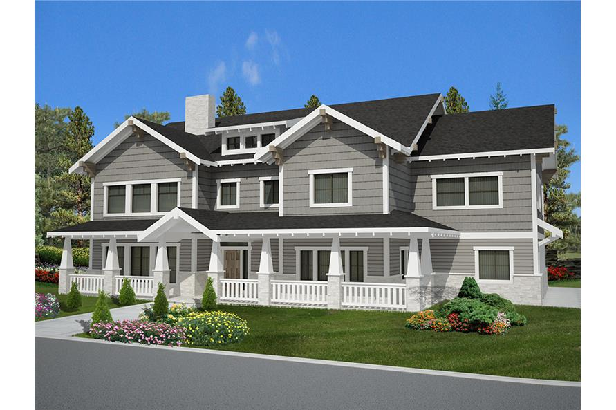6 Bedrm, 5828 Sq Ft Craftsman House Plan #132-1621