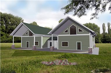 2-Bedroom, 998 Sq Ft Cottage House Plan - 132-1623 - Front Exterior