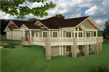 5-Bedroom, 3744 Sq Ft Craftsman House Plan - 132-1624 - Front Exterior